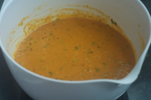 Batter for the spicy tunisian carrot frittata